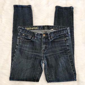 J. Crew Jeans Toothpick Skinny size 29
